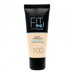 Fit Me Matte § Poreless - 100 ivoire doré - Maybelline New York