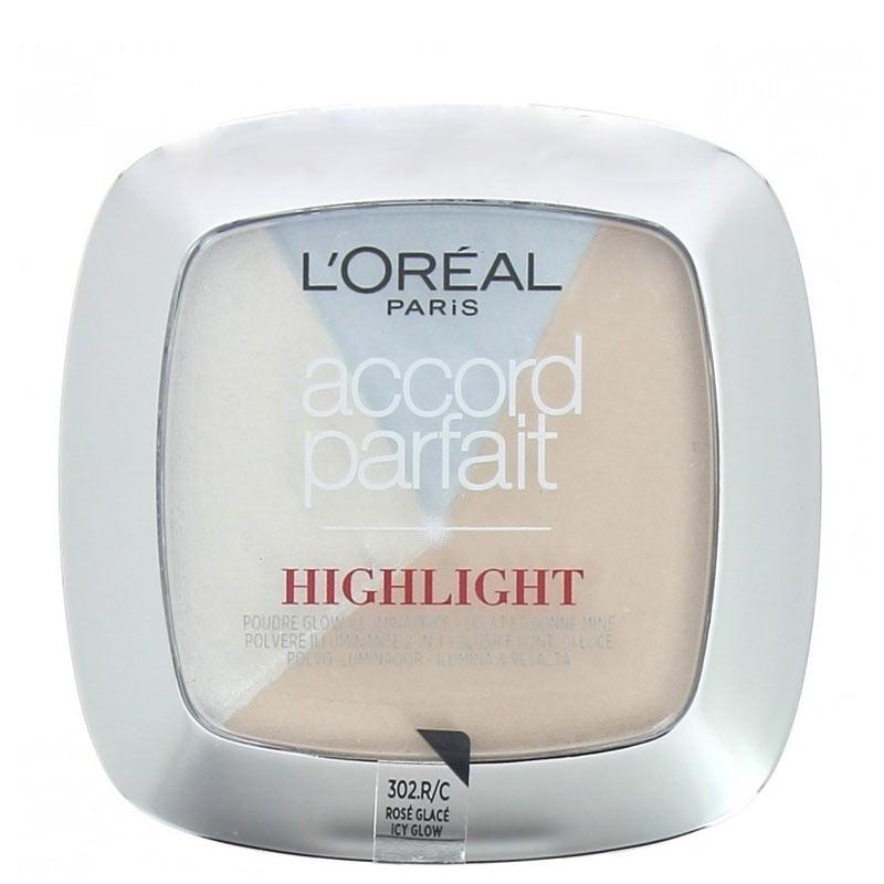 Poudre Highlighter&Blush Accord Parfait - 302 R.C Rosé Glaçé - L'Oréal Paris