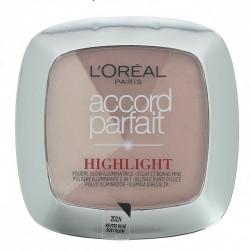 Poudre Highlighter& Blush Accord Parfait - 202.N éclat neutre rosé - L'oréal Paris