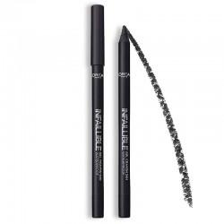 Infaillible Gel Crayon Yeux Noir Waterproof - 01 Back To Black - L'Oréal