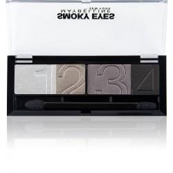 Palette EyeStudio Silk Quad Glam - 32 Smoky Black - Gemey Maybelline